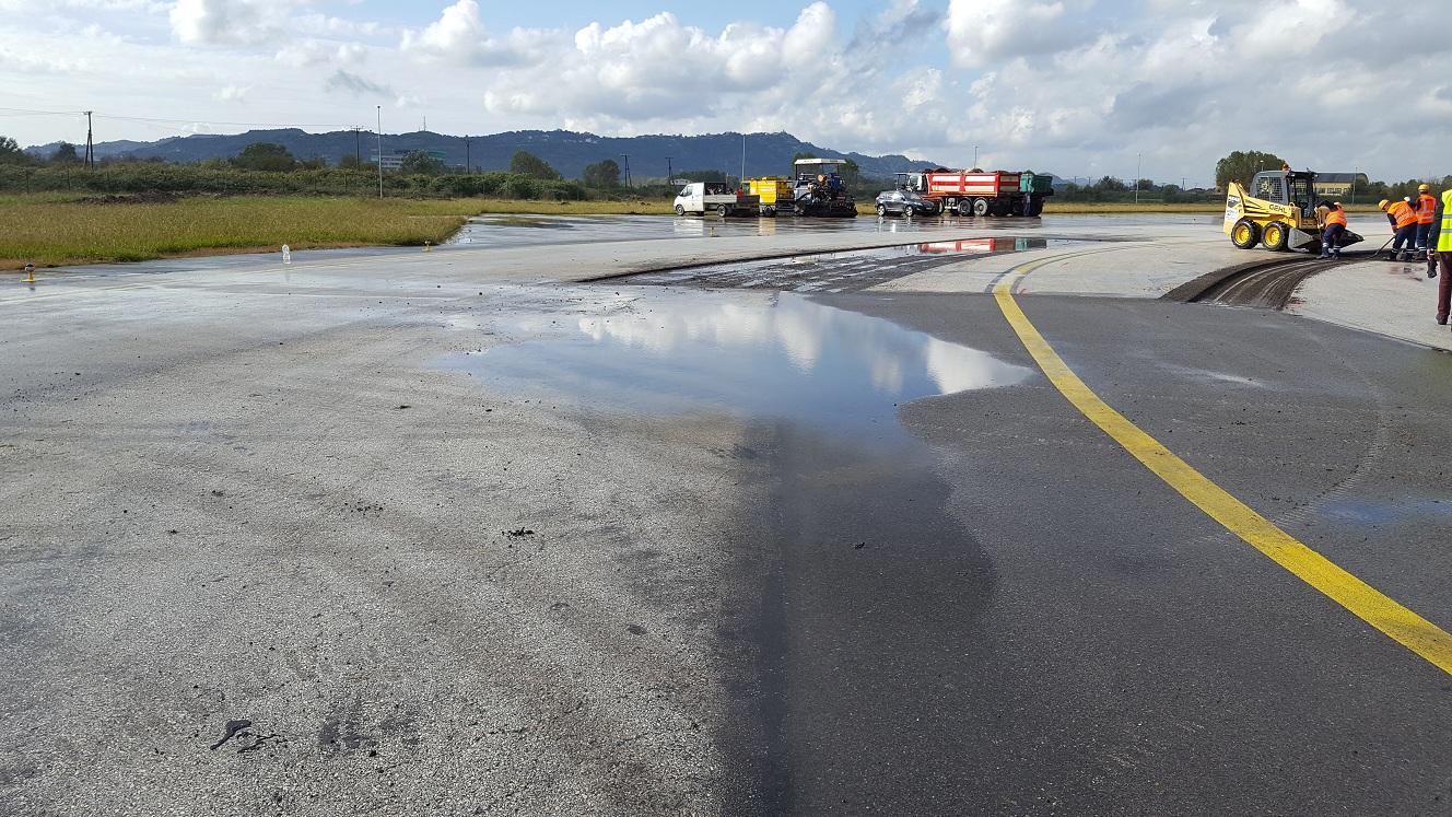 Punime per riparimin te rrugeve lidhese 2016, Tirana International Airport