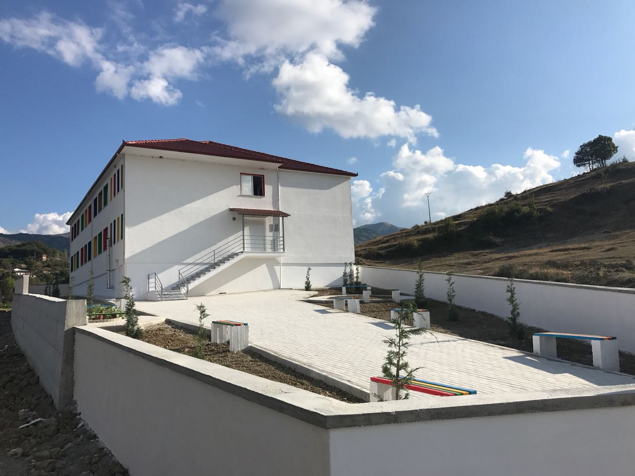 Construction of a new school in the village of Kamenice, Korce Municipality